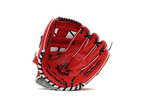 "JL-115-baseball glove, outfiled, polyurethane, size 11.5"" red"