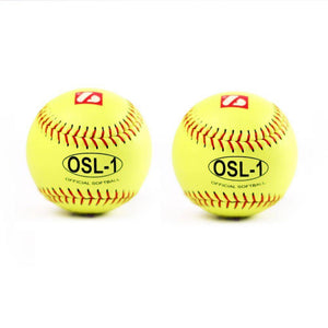"OSL-1 Softboll Boll, High Competition 12"", Gul, 2 st"