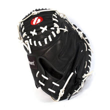 Ladda upp bild till gallerivisning, GL-202 Competition catcher baseball glove, genuine leather, adult 34, Black