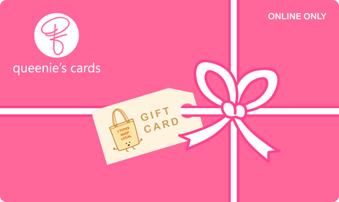 queenie's cards online only gift card