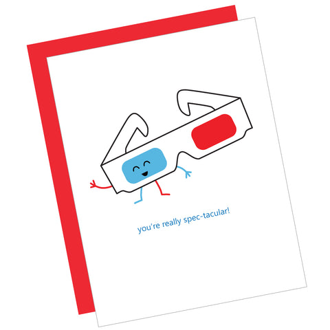 You're Really Spec-tacular! Greeting Card