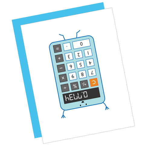 Hello Calculator Greeting Card