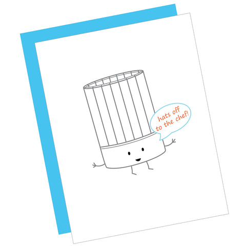 Hats Off to the Chef! Greeting Card