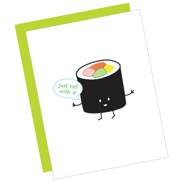 Just Roll with It Greeting Card