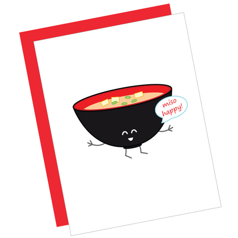 Miso Happy! Greeting Card