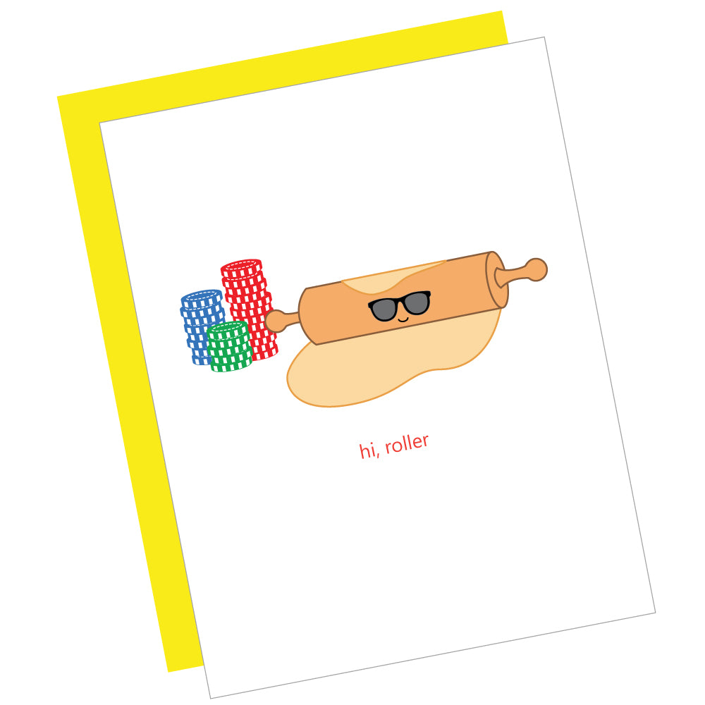 Hi, Roller Greeting Card