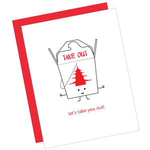 Let's Take You Out! Greeting Card