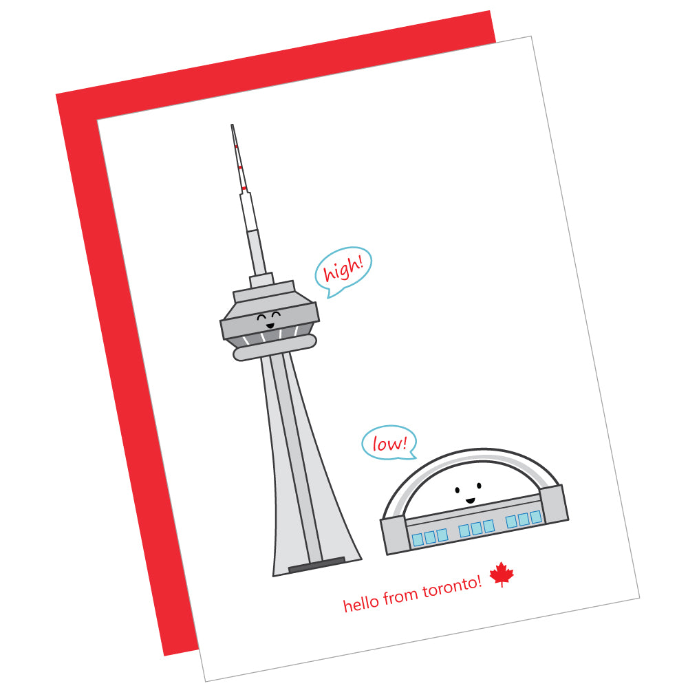 Hello from Toronto! Greeting Card