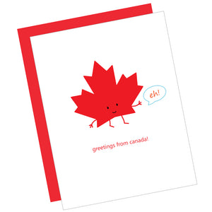 Greetings from Canada! Greeting Card
