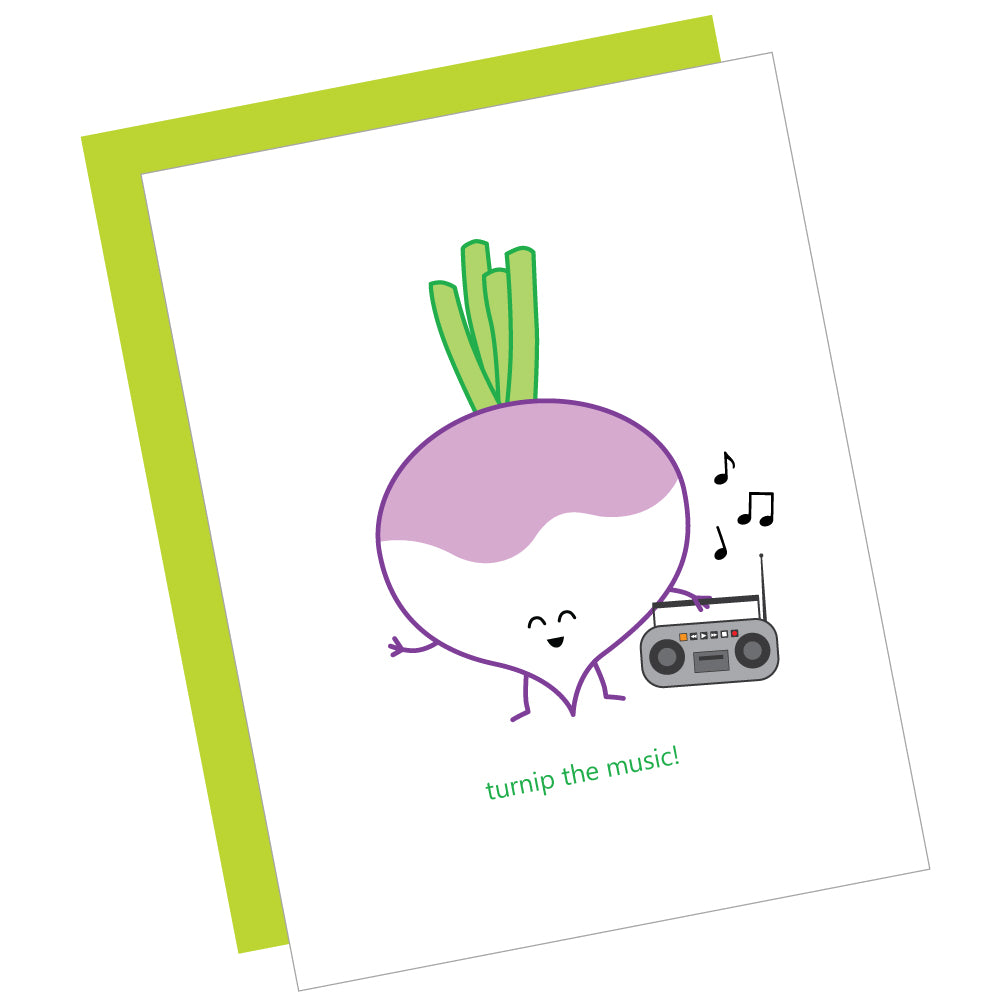 Turnip the Music! Greeting Card