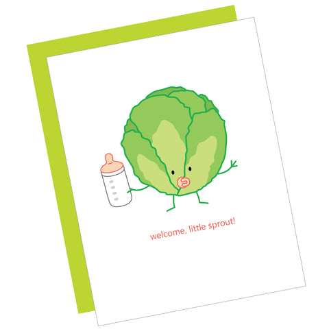 Welcome, Little Sprout! Greeting Card