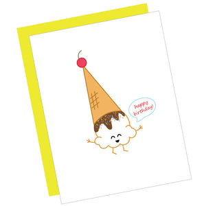 Happy Birthday! Ice Cream Greeting Card