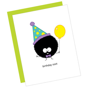 Birthday Soot Greeting Card