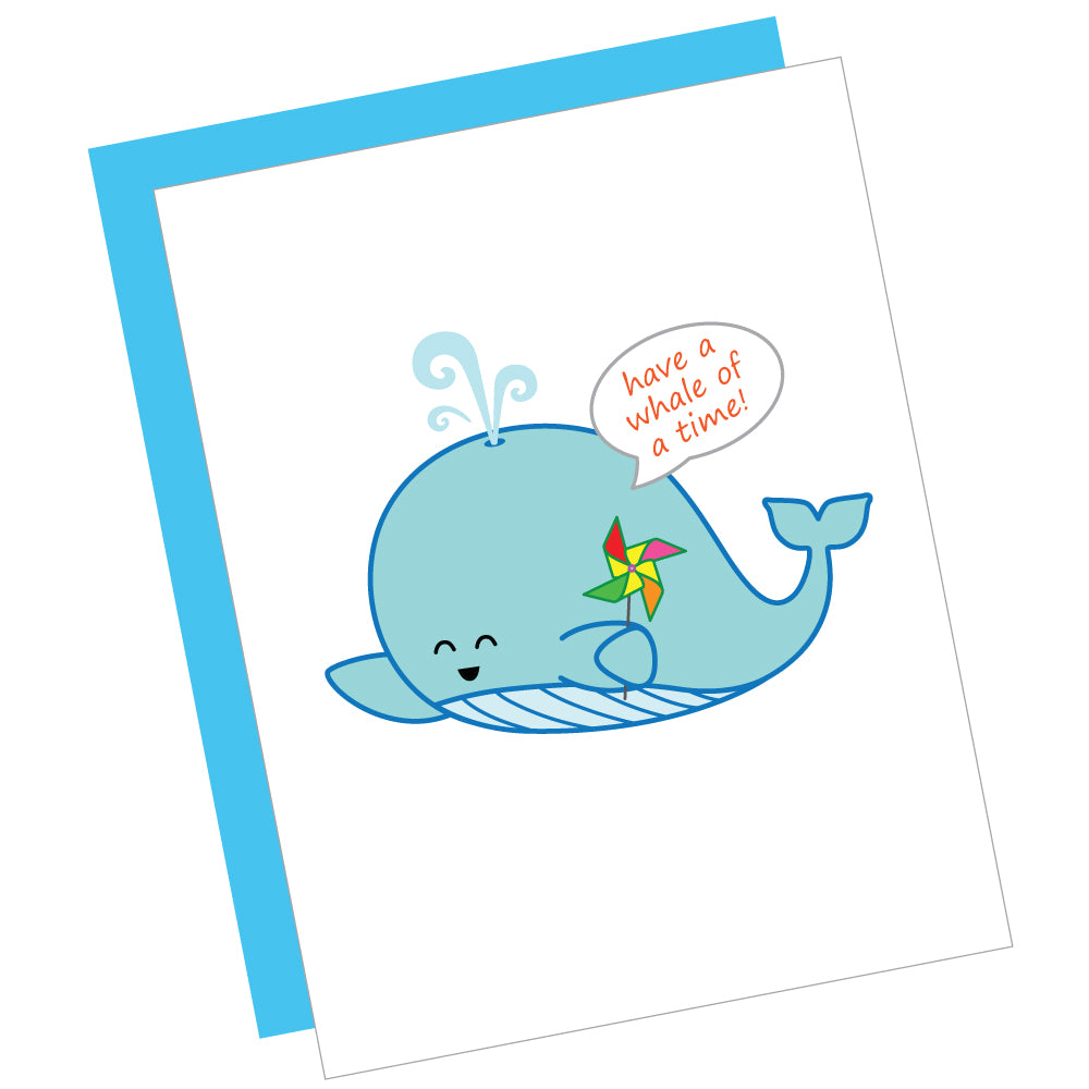Have a Whale of a Time! Greeting Card