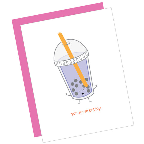 You Are So Bubbly! Greeting Card