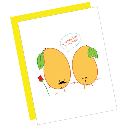 It Takes Two to Mango! Greeting Card