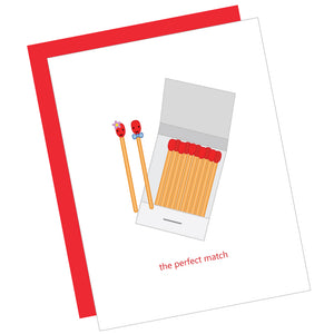 The Perfect Match Greeting Card