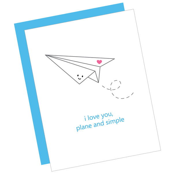 I Love You, Plane and Simple Greeting Card