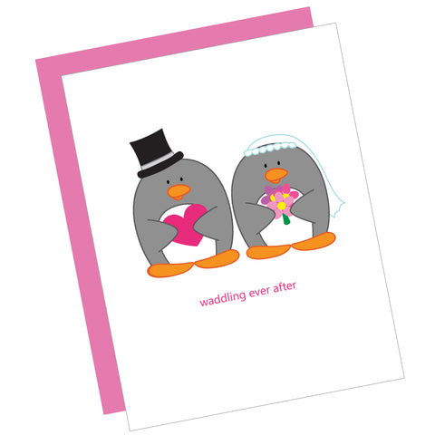 Waddling Ever After Greeting Card