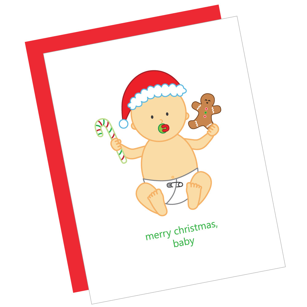 Merry Christmas, Baby Greeting Card