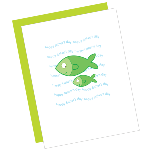 Happy Father's Day Fish Greeting Card