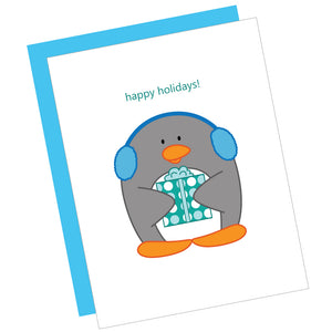 Happy Holidays! Penguin Greeting Card