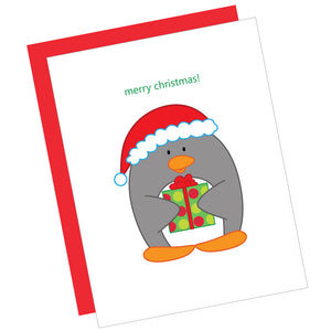 Merry Christmas! Penguin Greeting Card