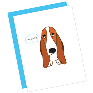 I'm Sorry Basset Hound Greeting Card