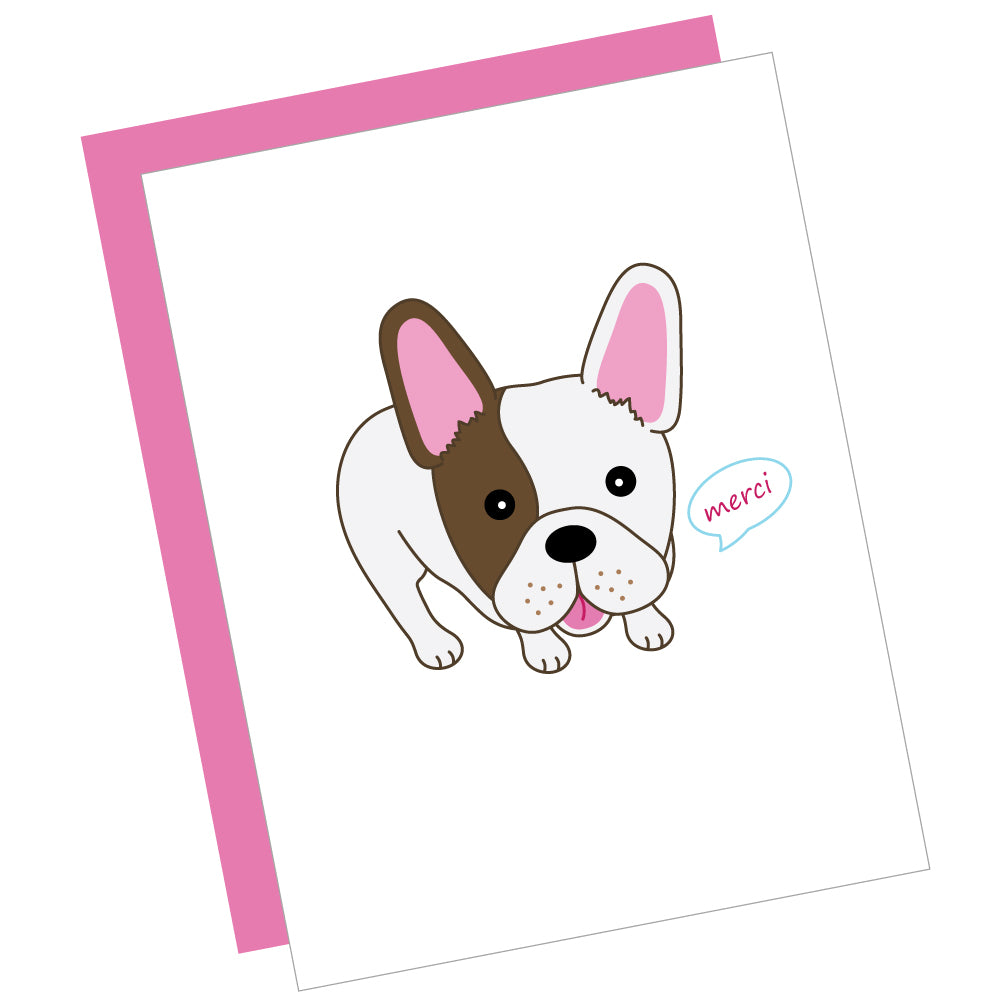 Merci Bulldog Greeting Card