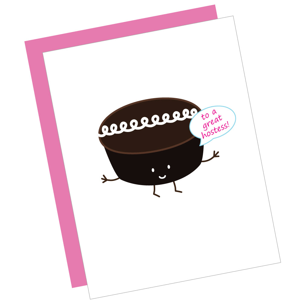 To a Great Hostess! Greeting Card