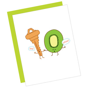 Key! Wheee! Greeting Card