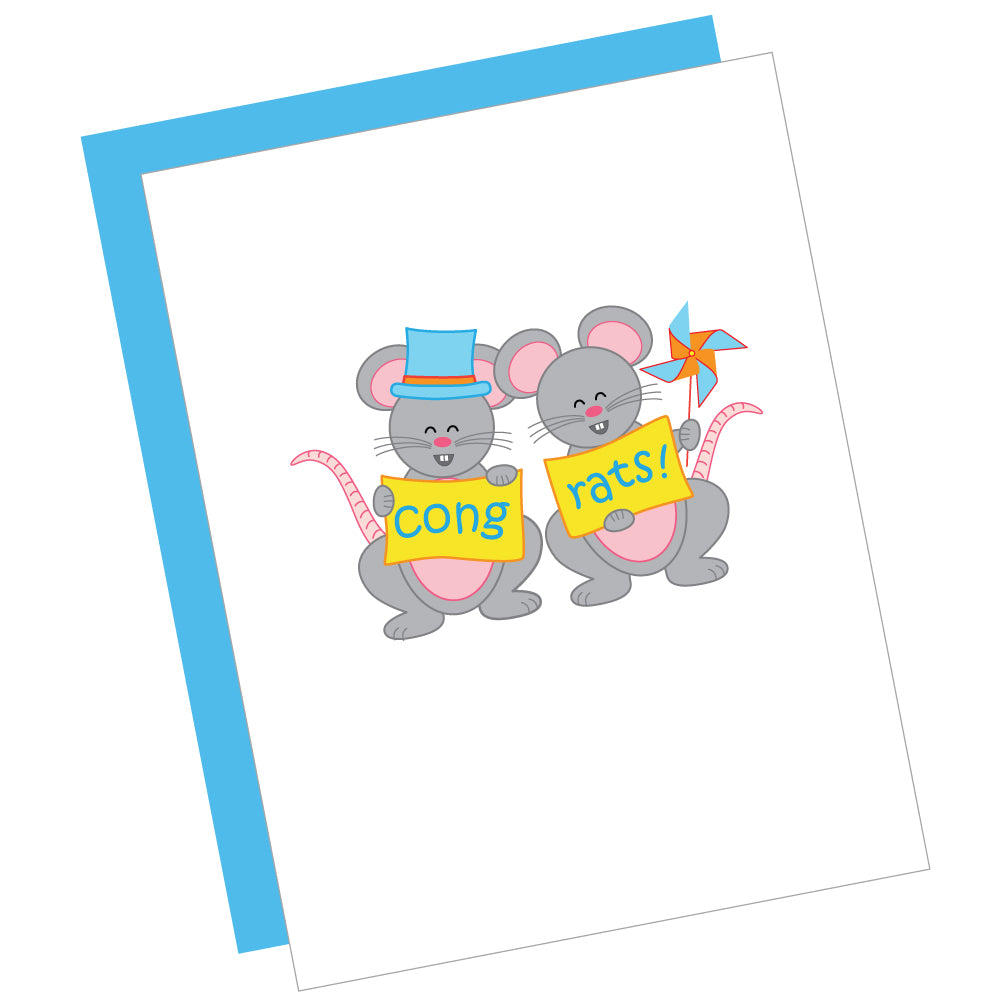 Cong-rats! Greeting Card
