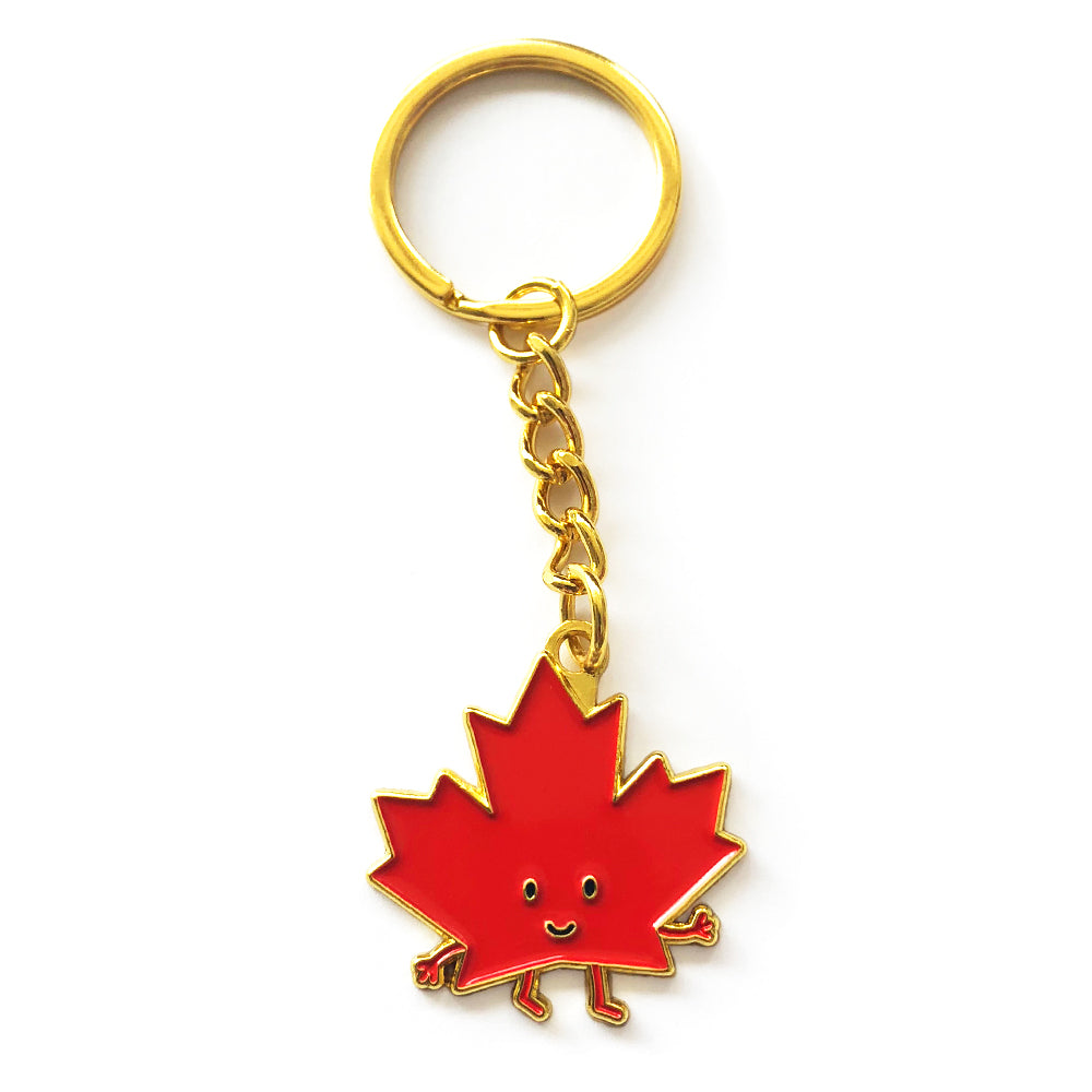 Maple Leaf Enamel Keychain