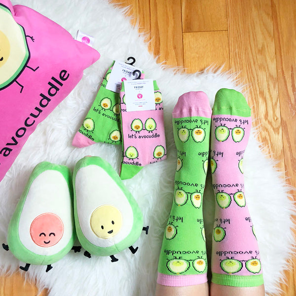 Let's Avocuddle Crew Socks