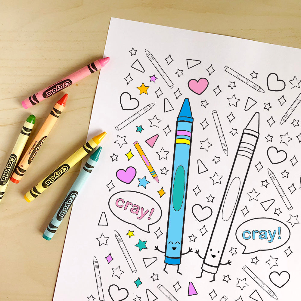 Cray Cray! Printable Colouring Sheet