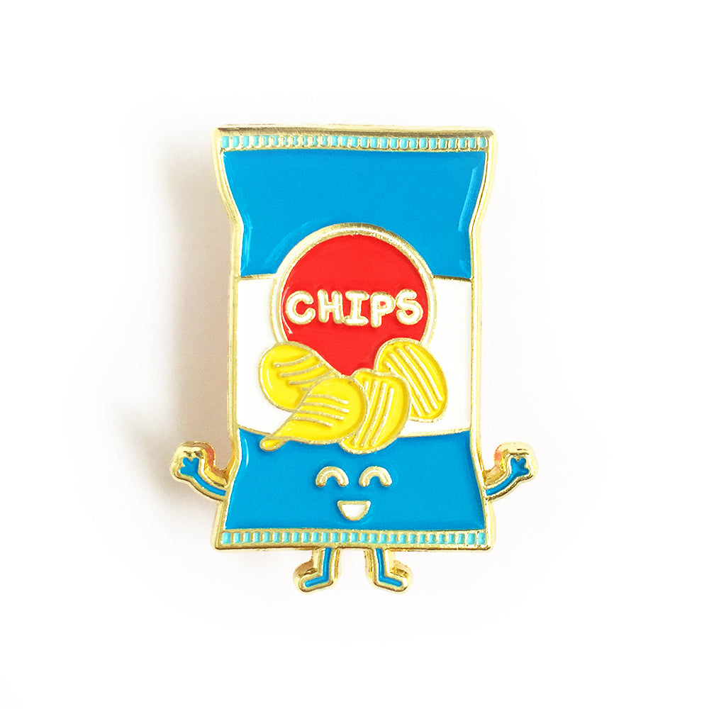 Chips Enamel Pin