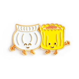 Dim Sum (Har Gow and Siu Mai) Enamel Pin