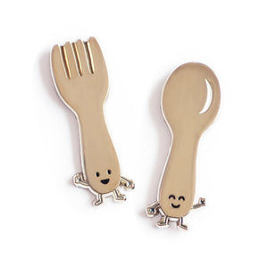Fork and Spoon Enamel Pin