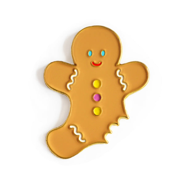 Gingerbread Enamel Pin
