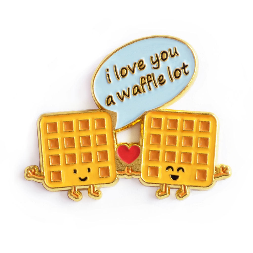 I Love You a Waffle Lot Enamel Pin