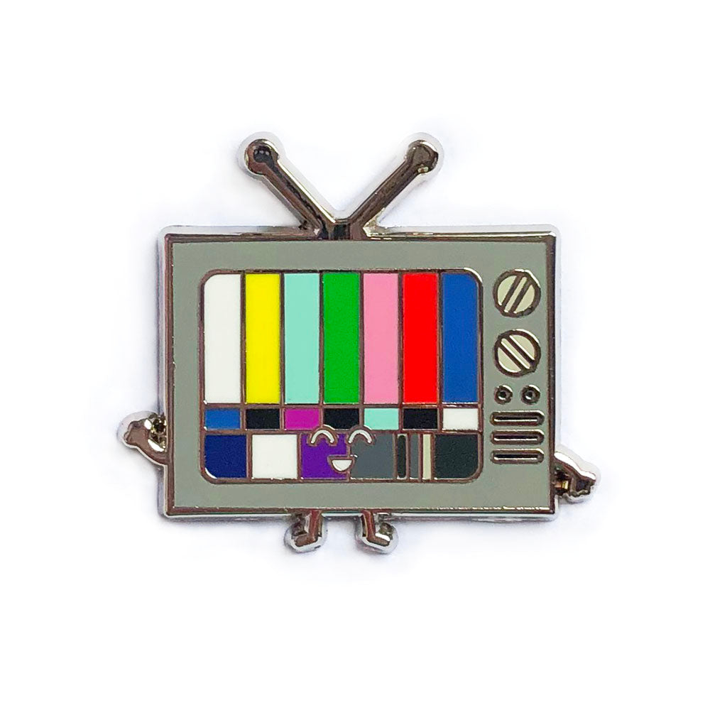Retro TV Enamel Pin