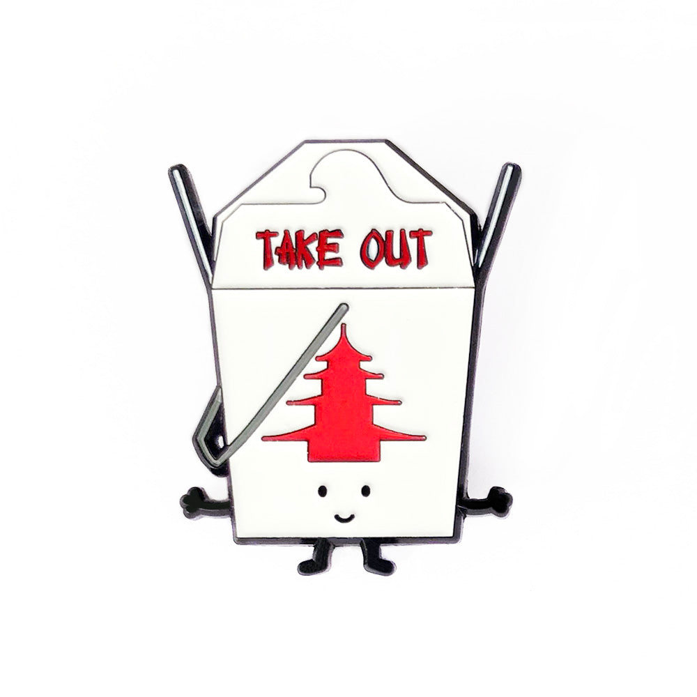 Take Out Food Enamel Pin