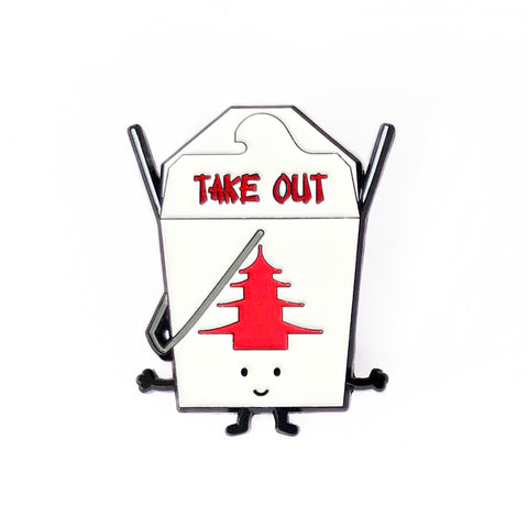 Takeout Food Enamel Pin
