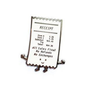 Receipt Enamel Pin