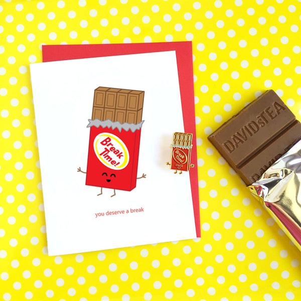 Break Time! Chocolate Enamel Pin