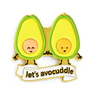 Let's Avocuddle Enamel Pin