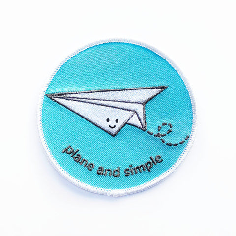 Plane and Simple Iron-on Patch
