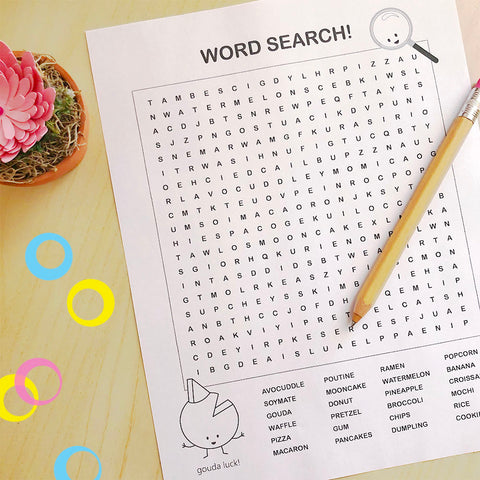Foodie Fun! Printable Word Search