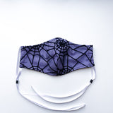 Tangled Web Fitted Mask - PURPLE