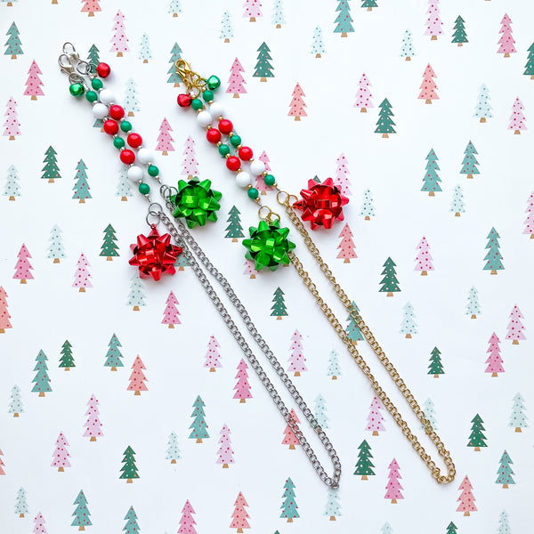 Holiday Bow Mask Chain